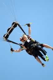 AnnaLynne McCord Skydives from 18,000 Feet - Charity Event in Lompoc, August 2014