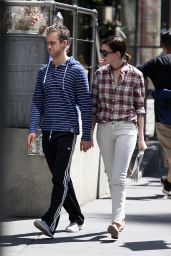 Anne Hathaway and Adam Shulman - Out in NYC - August 2014