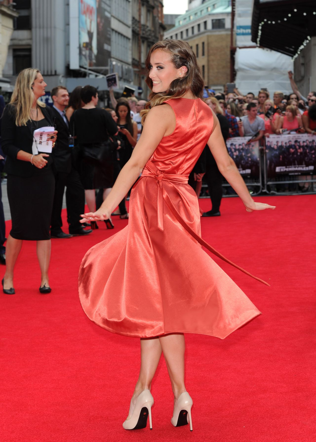April Pearson The Expendables 3 World Premiere In London