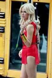 Ashley Benson – More 'Pixels' Set Photos – August 2014