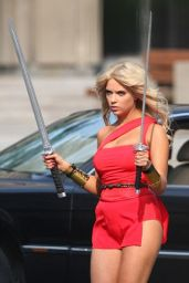 Ashley Benson on the Set of