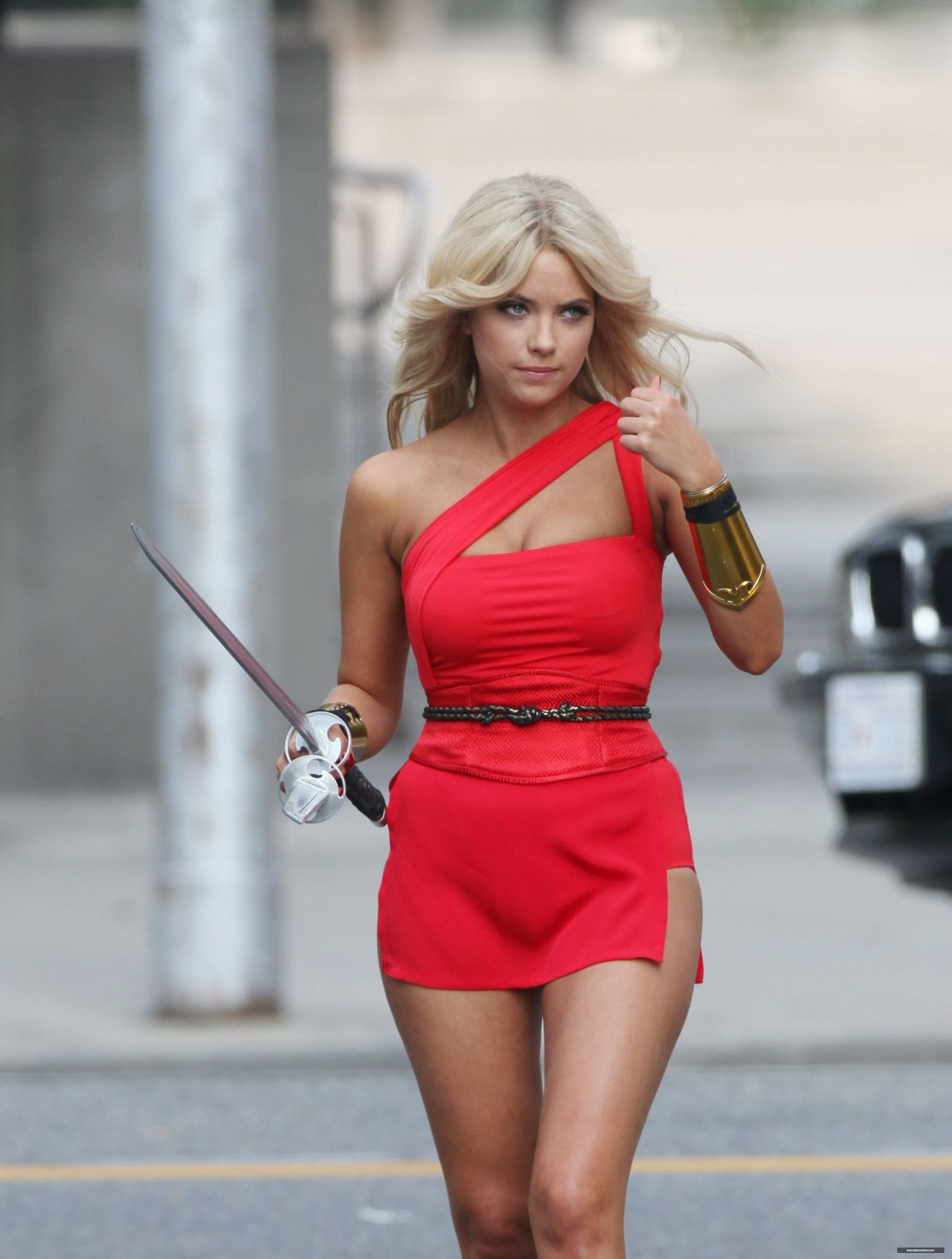 Ashley Benson - 'Pixels' Set Photos