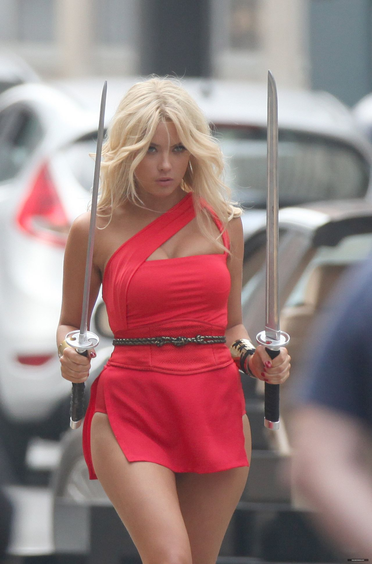ashley benson pixels Ashley Benson – 'Pixels' Set Photos – August 2014