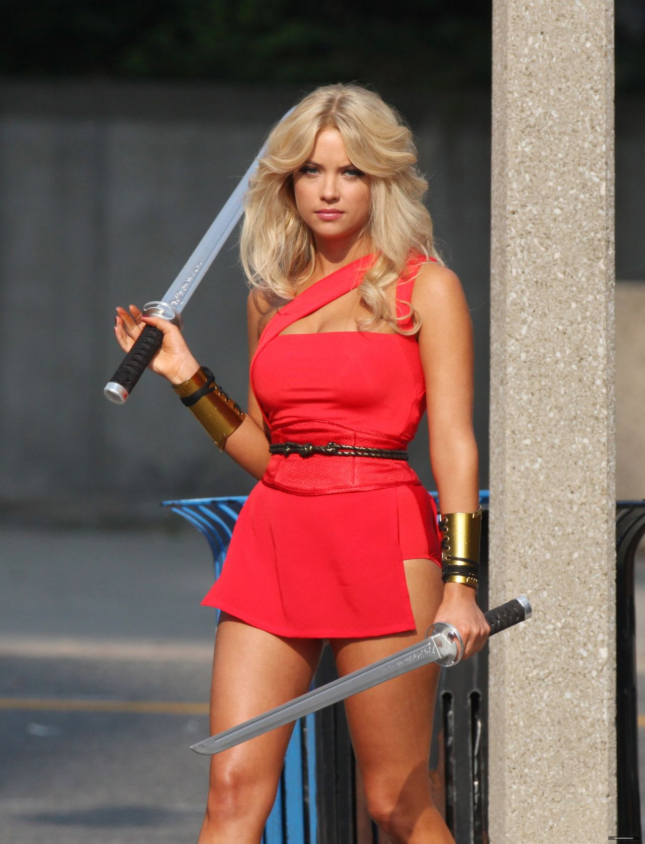 Ashley Benson - Pixels Set Photos - August 2014-1278