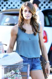 Ashley Greene in Denim Shorts at Bristol Farms in Beverly Hills - August 2014