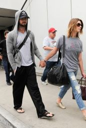 Ashley Greene Street Style - at LAX Airport, August 2014