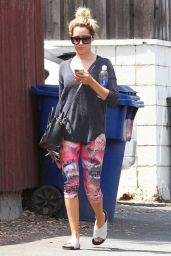 Ashley Tisdale in Leggings - Leaving A Gym In Los Angeles - Aug. 2014