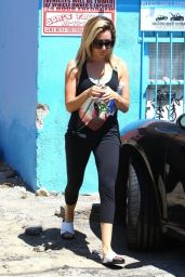 Ashley Tisdale - Leaving Yoga Class in Studio City - August 2014
