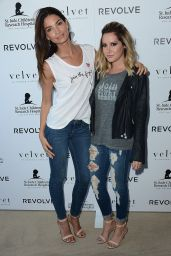 Ashley Tisdale & Lily Aldridge - Velvet X and St Jude Join The Fight Charity Tee Launch in Los Angeles