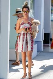 Ashley Tisdale - Out With Her Dog in Studio City - August 2014