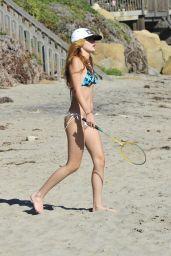 Bella Thorne Bikini Candids - Beach in Malibu, August 2014