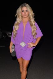 Bianca Gascoigne - Night Out Style - RS Lounge in Essex - August 2014