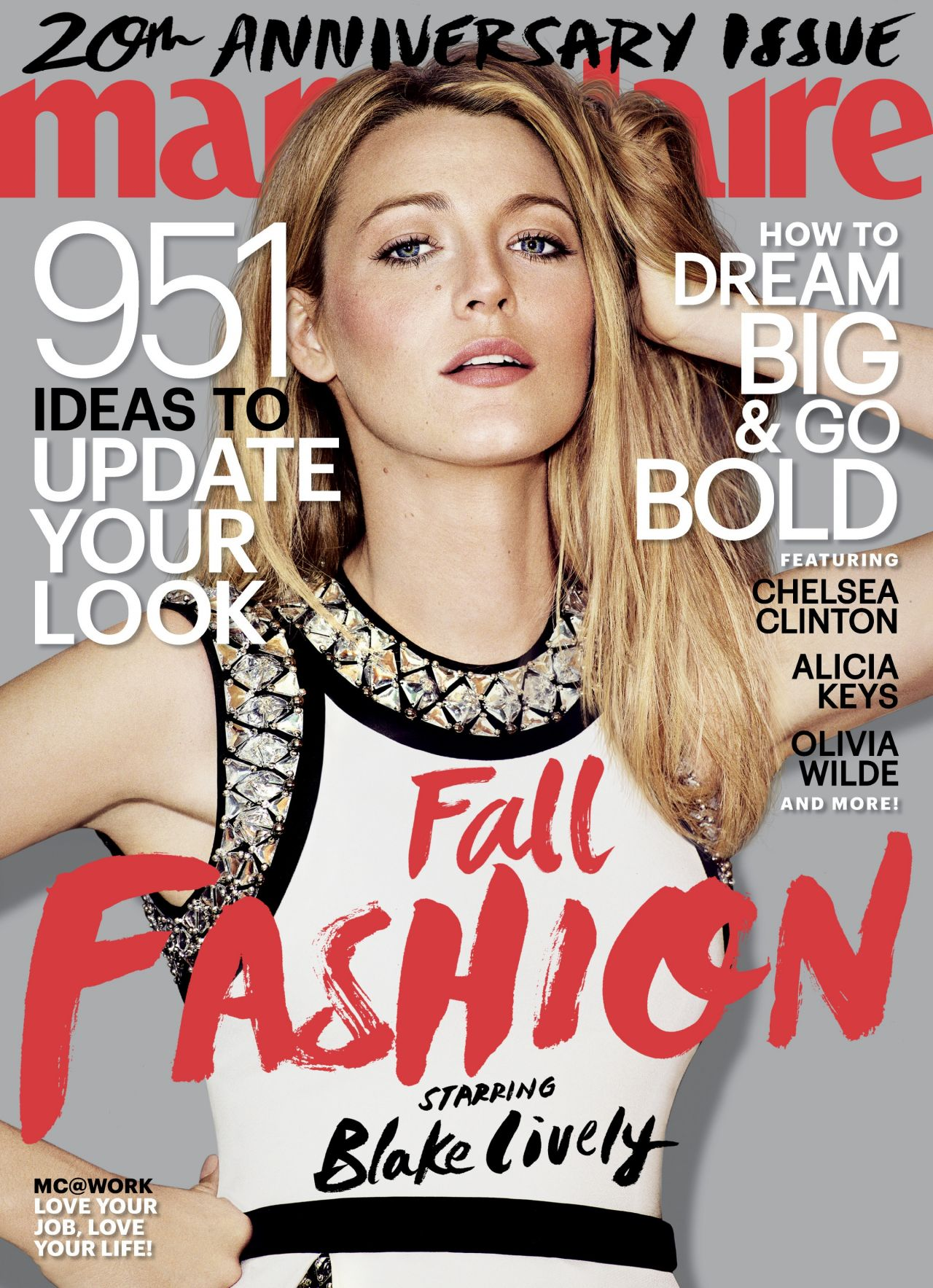 blake lively marie claire magazine september 2014 cover. Black Bedroom Furniture Sets. Home Design Ideas