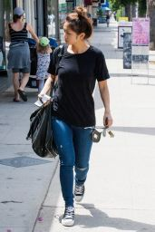 Brenda Song in Tight Jeans - Shopping in Studio City, August 2014