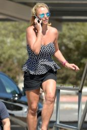 Britney Spears at Newbury Park Skateboard Park in Ventura County - August 2014