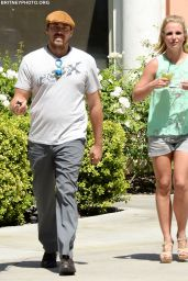 Britney Spears With Boyfriend David Lucado in Calabasas - August 2014