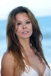 Brooke Burke in a Bikini at a Malibu Beach - August 2014