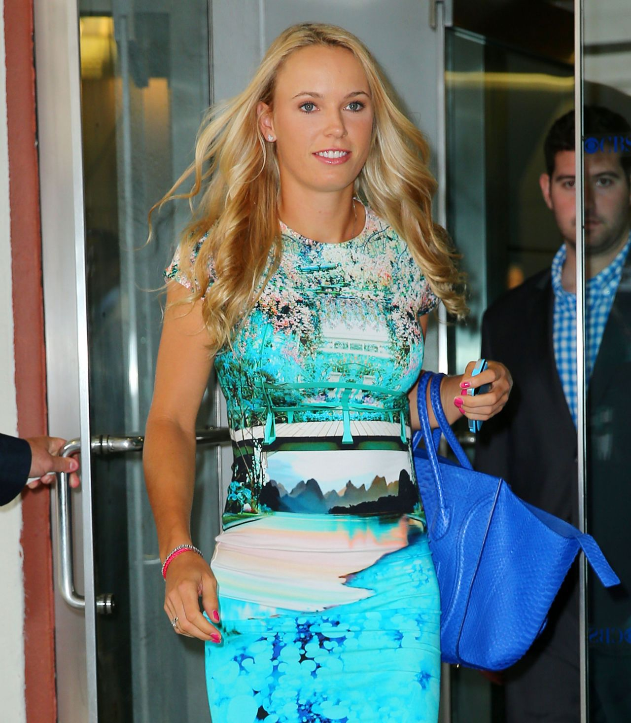 Caroline Wozniacki - CBS Studios in New york City, July 2014