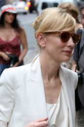 Cate Blanchett Style - Out in New York City - August 2014