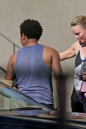 Charlize Theron Leaving Yoga Class - South Africa, August 2014