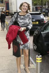 Charlotte Hawkins Laving the London Studios - August 2014