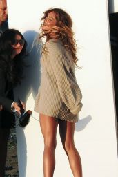 Cheryl Fernandez-Versini - Filming a Music Video in Malaga - August 2014