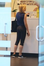 Chole Moretz in Tights - Soulcycle in NYC - August 2014