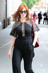 Christina Hendricks at the BBC Studios in London - August 2014
