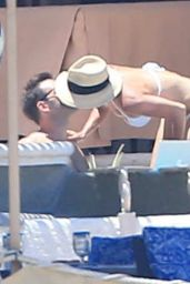Courteney Cox Bikini Candids - Cabo, August 2014