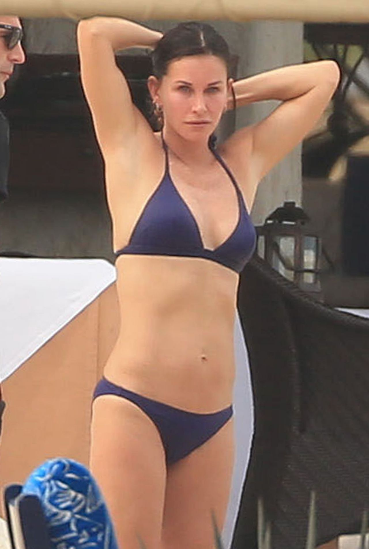 Courteney Cox Wearing A Bikini In Cabo Mexico August 2014