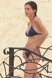 Courteney Cox Wearing a Bikini in Cabo (Mexico), August 2014