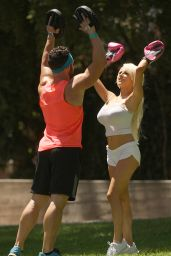 Courtney Stodden Workout at Griffith Park in Hollywood - July 2014
