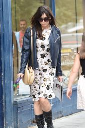 Daisy Lowe Walking Her Dog in Primrose Hill, London - August 2014