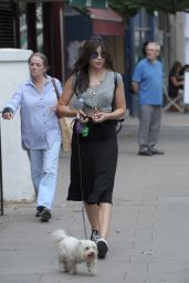 Daisy Lowe Walking Her Dog Monty in Primrose Hill, London - August 2014
