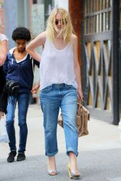 Dakota Fanning Street Style - Out in New York City, August 2014