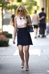 Dakota Fanning Style - Out in New York City - August 2014
