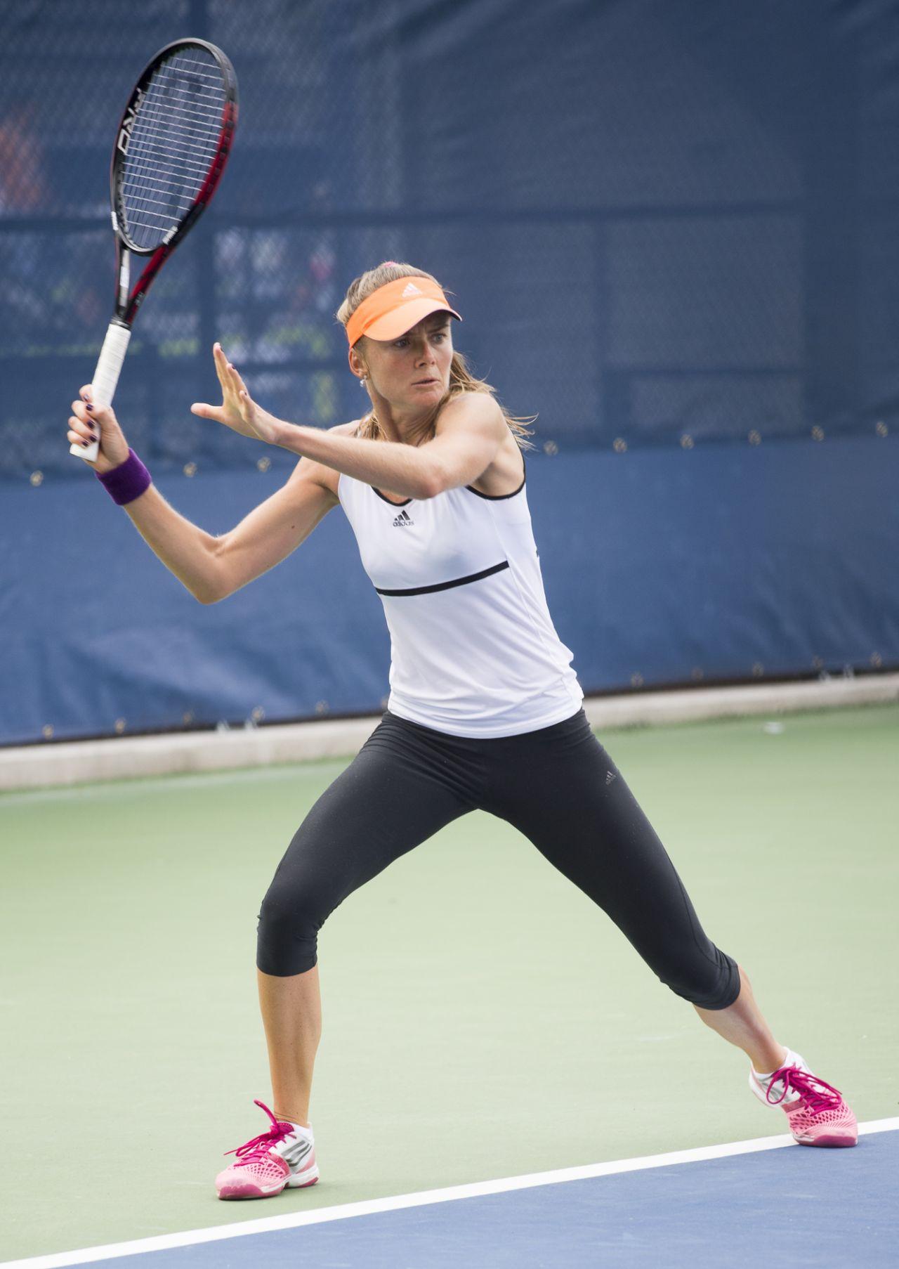 Daniela Hantuchova Practice at the 2014 US Open in New York City