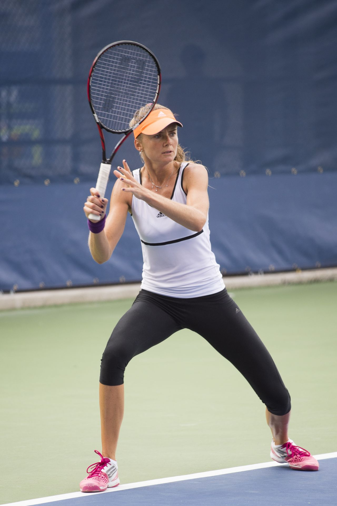 Daniela Hantuchova Practice At The 2014 Us Open In New