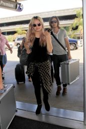 Debby Ryan at LAX Airport in Los Angeles - July 2014