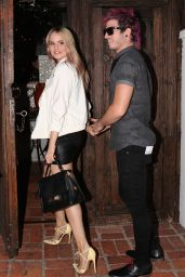 Debby Ryan Style - Outside The Little Door Restaurant in Los Angeles - August 2014