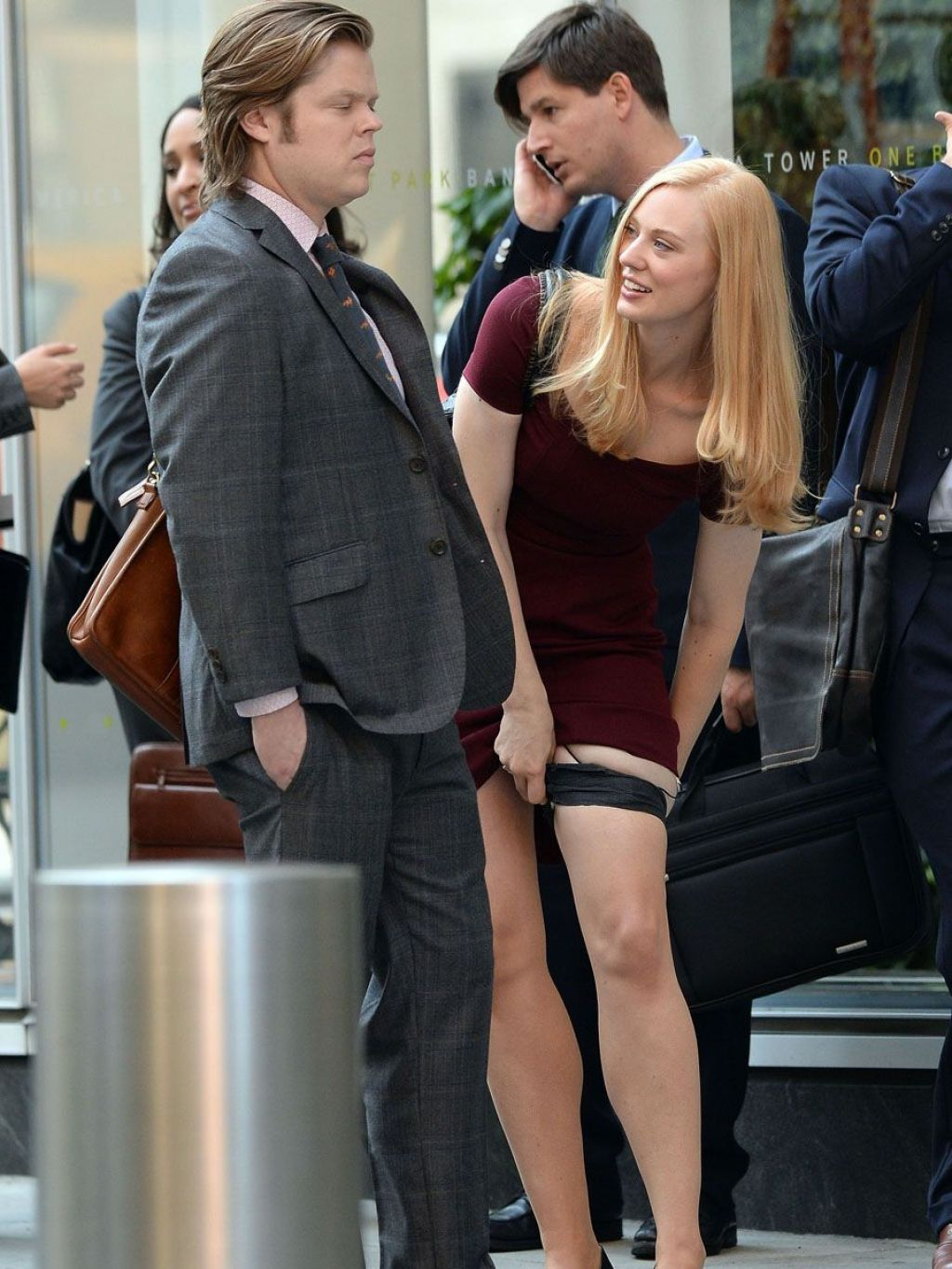 Deborah Ann Woll – 'Daredevil' TV Series Set in New York City, Aug. 2014