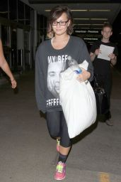 Demi Lovato at LAX Airport - August 2014