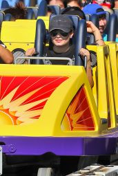 Demi Lovato Celebrating Her 22nd birthday at Disneyland - August 2014