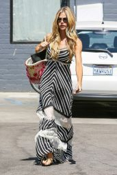 Denise Richards in Summer Long Dress - Leaving Cristophe Salon in Beverly Hills - August 2014