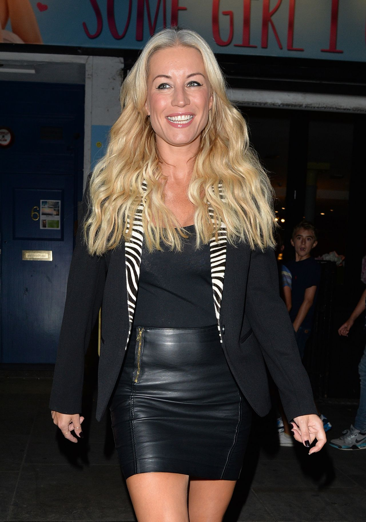 Denise Van Outen Style - Leaving The Arts Theatre In -9860