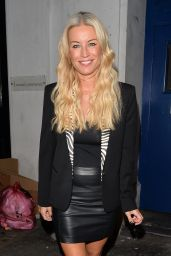 Denise Van Outen Style - Leaving the Arts Theatre in London - August 2014
