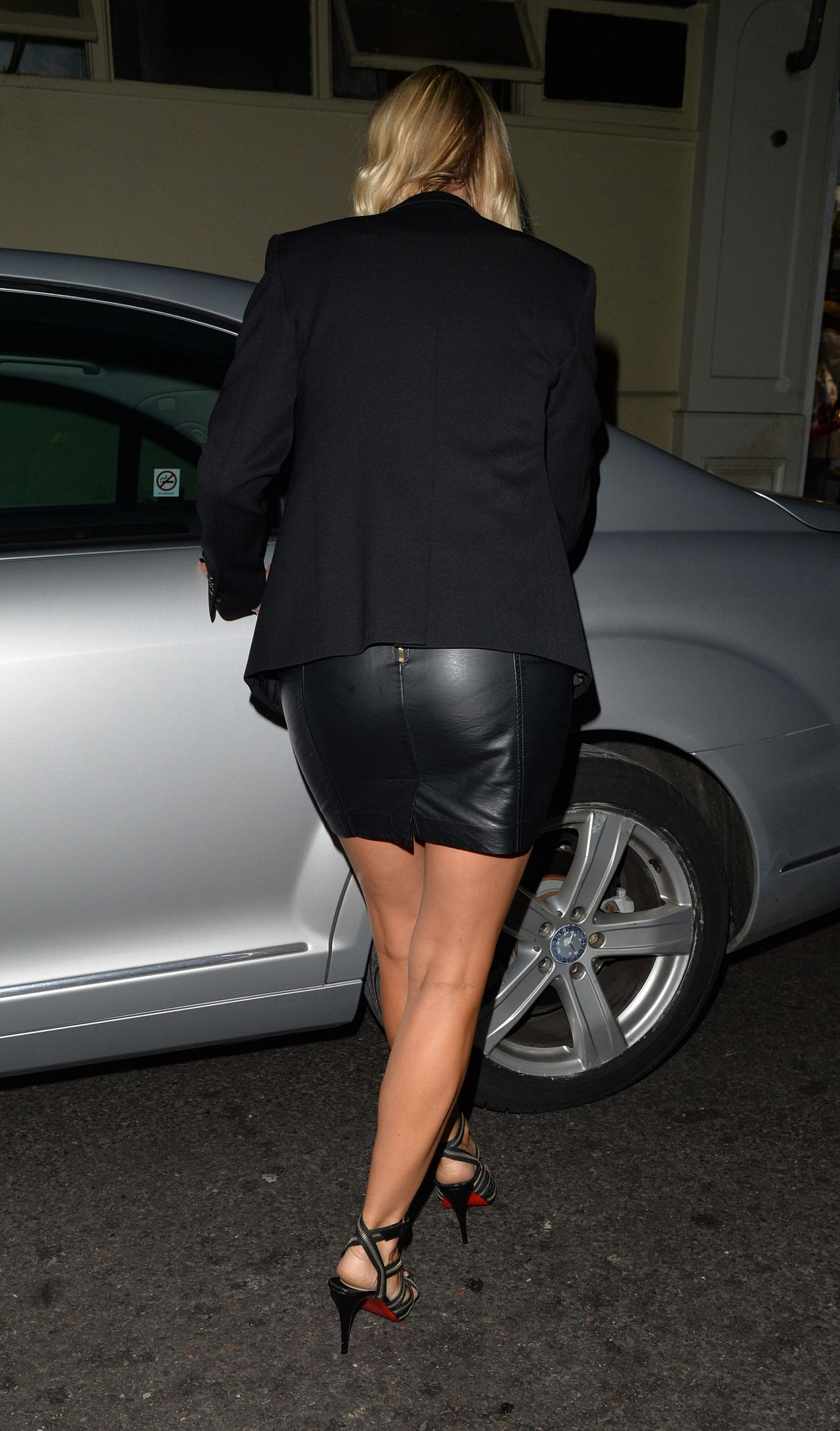 Denise Van Outen Style Leaving The Arts Theatre In