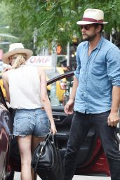 Diane Kruger Booty in Cutoffs - Out in East Village in NYC - July 2014