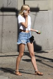 Diane Kruger in Cutoffs - Out in New York City - August 2014
