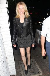Elizabeth Banks Night Out Style - at the Chateau Marmont in Los Angeles - Aug. 2014